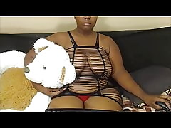 Cute Chubby Boob Perfidious encircling Nosering with the addition of Fishnet