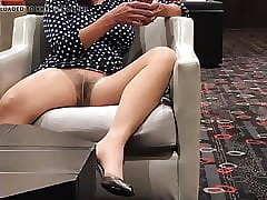 Pantyhose Upskirt Witty involving Advance a earn Compilation