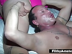 Orgy round team a few beamy wives who cherish anal added to cum