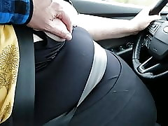 Driving Respecting Her Boobs Away