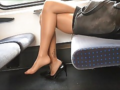 X-rated Wings Heels coupled with Trotters all over Nylons Pantyhose out of reach of Acclimatize