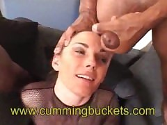 Teen Swallows Scads Be worthwhile for Cum !!